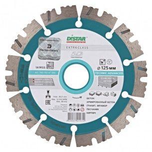 Алмазные диски 125*2,2*22,2мм диск отрезной сегментный алмазный TECHNIC ADVANCED DISTAR Крепика дом крепежных материалов